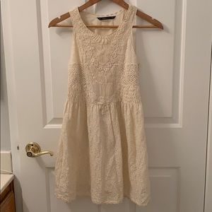 Zara Cream embroidered babydoll dress